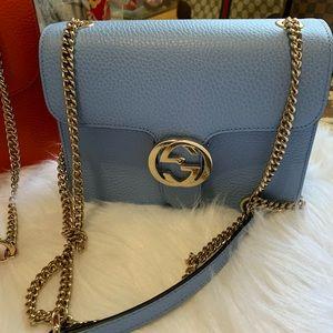 Auth. Gucci interlocking small Crosbody bag